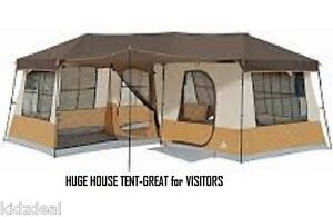 Large-16x16-Family-Cabin-Dome-Condo-Tent-Sleeps-12-Person-Storage-Camper-3-rooms