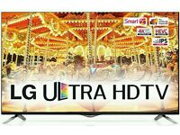 "LG 49"" 4k UHD smart wifi tv builtin HDDR HD FREEVIEW like new ."