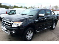 Black Ford Ranger 2.2TDCi 4x4 Double Cab Limited 2 FROM £72 PER WEEK!