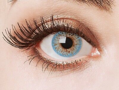 aricona Farblinsen farbige Kontaktlinsen ohne Stärke hellblaue (Hellblaue Kontaktlinsen)