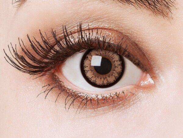 aricona natürlich braune farbige Kontaktlinsen Jahreskontaktlinsen Farblinsen