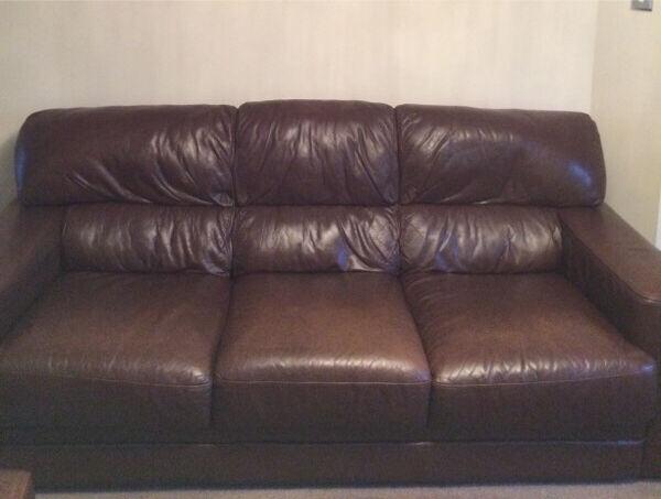 3 Seater Brown Leather Sofa Reids Furniture Store In Corstorphine Edinburgh Gumtree