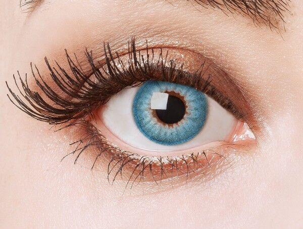 aricona Farblinsen deckend blaue farbige Kontaktlinsen bunt farbig intensiv blau