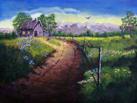 Little House on the Prairie - Original Acrylic Painting
