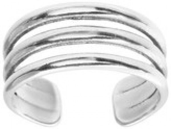 Adjustable Sterling Silver Triple Band Toe//Pinky//Finger Ring 925-170A4