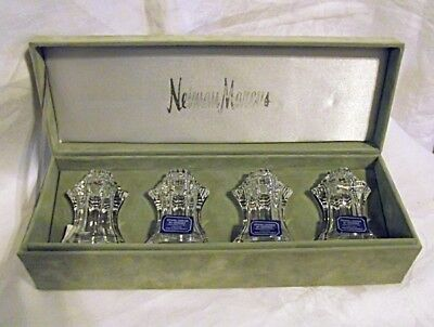 NEW BOX Crystal Legends Godinger Two Sets of Salt Pepper Shakers Neiman Marcus