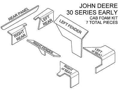 Heavy Equipment Parts & Accs - John Deere 4430 on john deere 4030 cab wiring diagram, john deere 4430 cab wiring diagram, john deere wiring harness diagram,