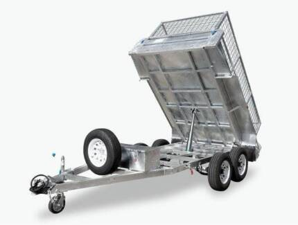 10X5 HYDRAULIC 	TIPPER TRAILER GALVANIZED CAGE 3500KG