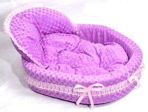 Soft-Purple-Lace-Pet-Dog-Puppy-Cat-Nest-Kennel-Comfortable-Warm-Bed-Mat-Cozy