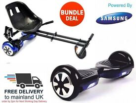 UK SEGWAY HOVER KART BUNDLE - BRAND NEW - FREE DELIVERY - Hoverboard Smart Balance Wheel Scooter