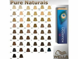 image is loading wella koleston perfect hair colour pure naturals 100ml - Coloration Wella