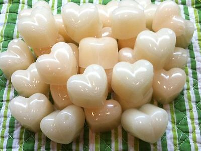 HAZELNUT VANILLA Wax Tarts Melts CHUNKY HEARTS Scented Candle Warmer Wax -