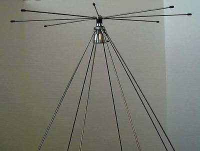 TRAM 1410 SCANNER DISCONE ANTENNA 25 - 1300 MHZ WITH HAM RADIO TRANSMIT