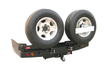 MCC4x4 Rear Bar Wheel Carrier Jerry Can Landcruiser Patrol Ute Capalaba Brisbane South East Preview