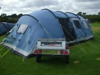 8 man family size outwell tent, blue in colour