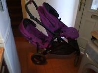 britax bdual double tandem or single pushchair- 1 yr old, good condition, £180