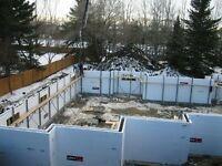 ICF CONSTRUCTION ----- highest efficiency buildings or basements