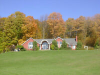 Beautiful country home on 13 acres, 3000+ sq ft.