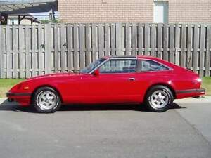 1983 red datsun 280 zx fully loaded t-top