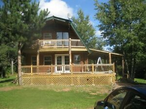 Private Log Home in Beautiful Country Setting