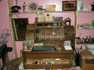 antique newfoundland National Cash register