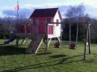 The jungle playhouse and swings brand new