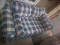 Campbellton-Blue and white love seat