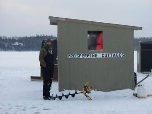 Ice fishing on Lake Nipissing