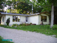 2.9 Acres Bungalow w/ shop and bunkie 3bedrooms near Wood Lake