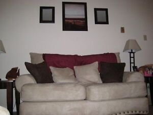 Microsuede Couch and Loveseat For Sale