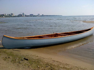 Peterborough Cedar Canvas Canoe
