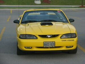 1998 Yellow Mustang GT Convertible