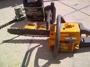 14 inch Partner 400 chain saw & accessories
