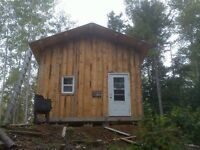 16x16 rustic cabin new red steel roof