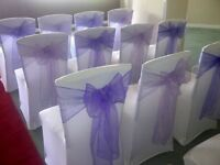 Wedding chair covers and sashes for hire also candy cart hire and sales
