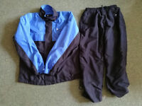 Boys golf waterproof jacket and trousers