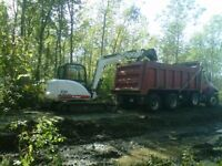 Excavating, Grading, Trenching, stamped concrete,