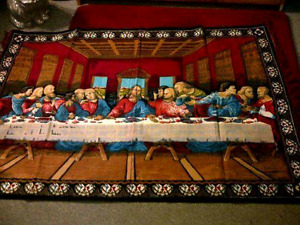 """Unique """"The Last Supper Rug """" this baby is old school"""