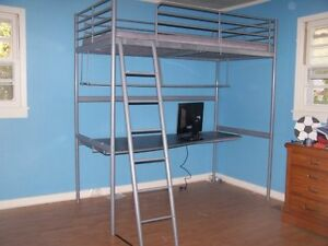 IKEA bunk bed with desk!
