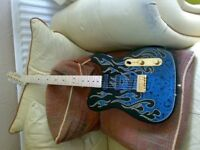 Jim Burton Fender Telecaster collectors custom guitar mint , re advertised due to time waster.
