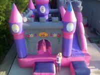 DISNEY PRINCESS BOUNCY CASTLE SLIDE COMBO