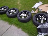"""18"""" ikon wheels with low profile tires"""
