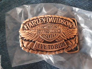 Harley Davidson Belt Buckle (Brass)