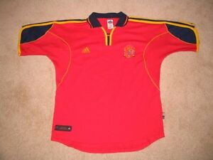 Spain National Team Soccer Jersey L Euro 2000 London Ontario image 1