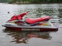 Very fast Sea Doo with Triton Trailer