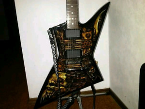 LTD ClockWork Zombie Guitar w/ Hard Case priced to sell