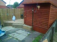 Fencing, decking and hand crafted garden sheds