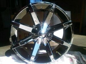 "22"" KMC Slide rims with tires"