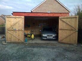 16x16 Car/Van/4x4 shed