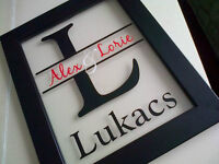** Custom Family Name Frames - make a great gift! **